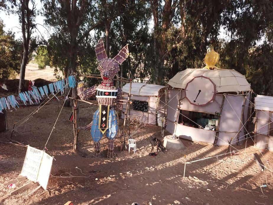 המחסן במחנה של שבט יהודה. צילום: יוסי מויאל וניסים יצחק