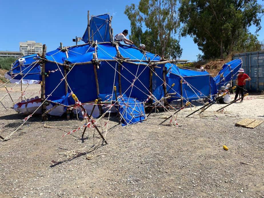 מבנה הלווייתן של שבט גילעד. צילום: באדיבות תנועת הצופים