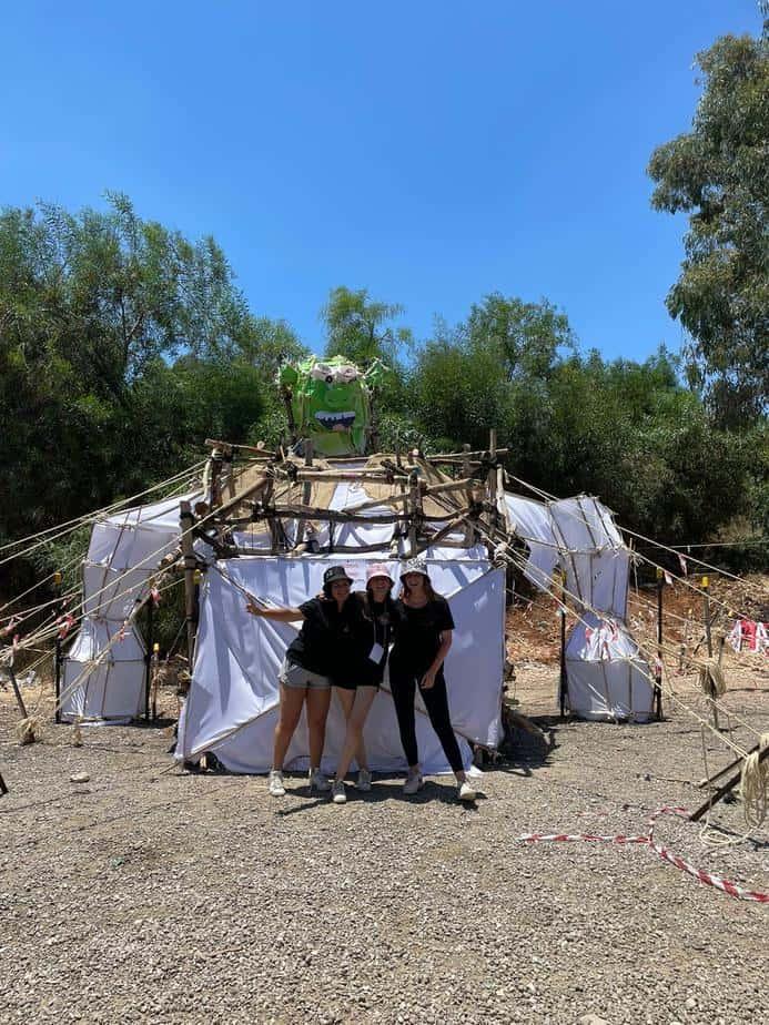 """מבנה """"שרק"""" של שבט גילעד. צילום: באדיבות תנועת הצופים"""