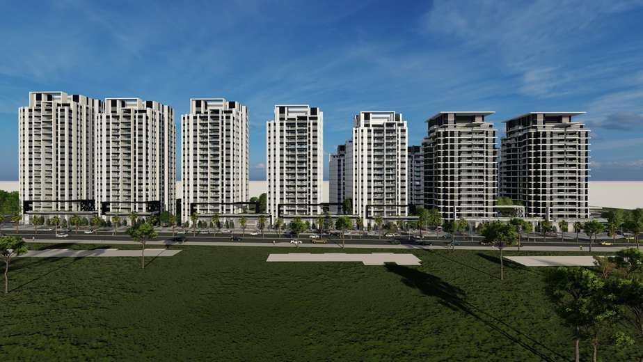 הדמיה של פרויקט הפינוי-בינוי בלוי אשכול דרום. צילום: פייגין אדריכלים