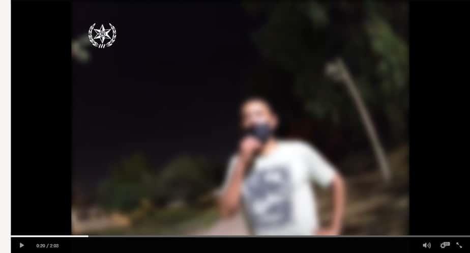 החולה המאומת בקורונה תושב אור יהודה שאיתרה המשטרה. צילום: דוברות המשטרה