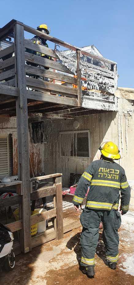 הבית הפרטי באור יהודה שבו אירעה השריפה. צילום: כבאות והצלה בני ברק
