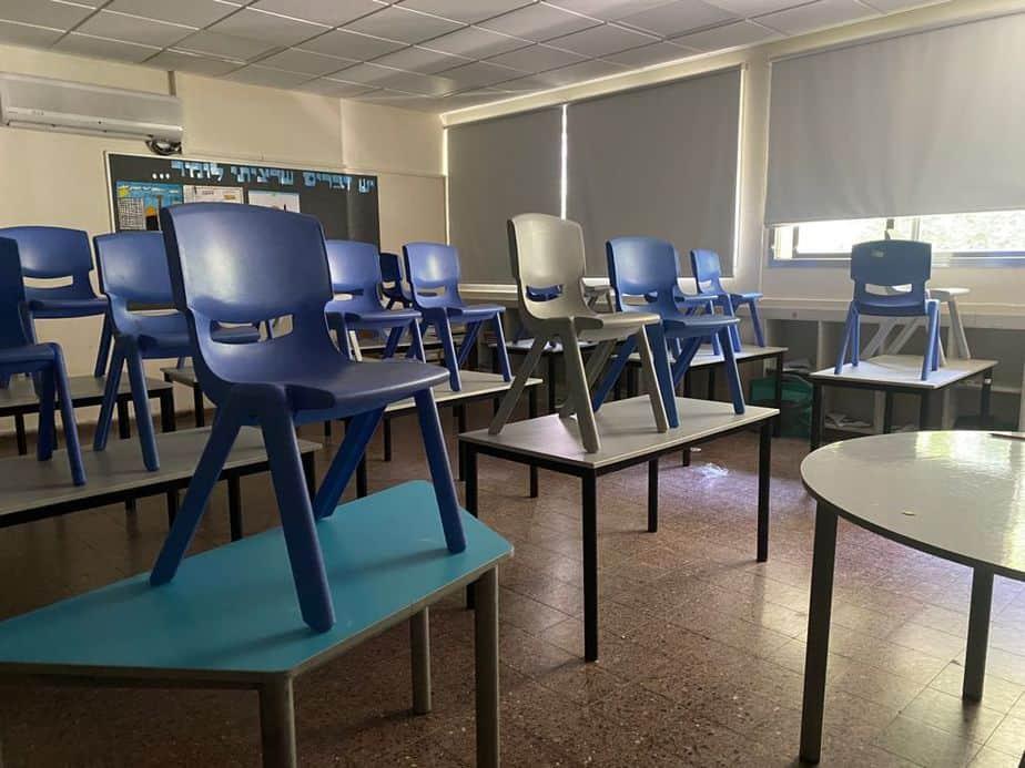ארבע כיתות בבידוד בבית הספר בן גוריון בגבעת שמואל. צילום אילוסטרציה: אונו NEWS