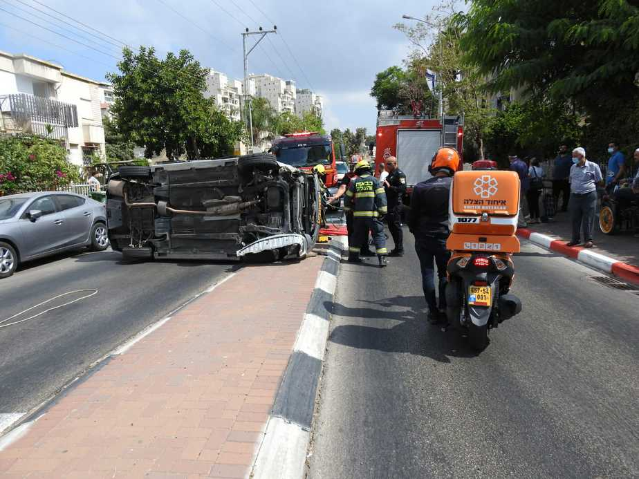 זירת התאונה באור יהודה. צילום: תיעוד מבצעי איחוד הצלה